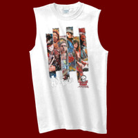 Slices of guitarist paintings - Gildan Sleeveless T-Shirt